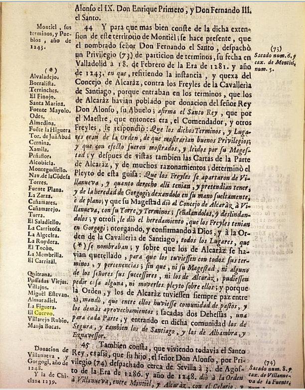 Pueblos (b) pertenecientes al partido de Montiel 1243