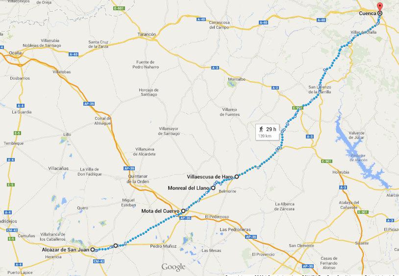 Camino Villuga Alcázar-Cuenca