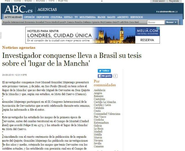Dossier de Prensa ABC CONGRESO BRASIL