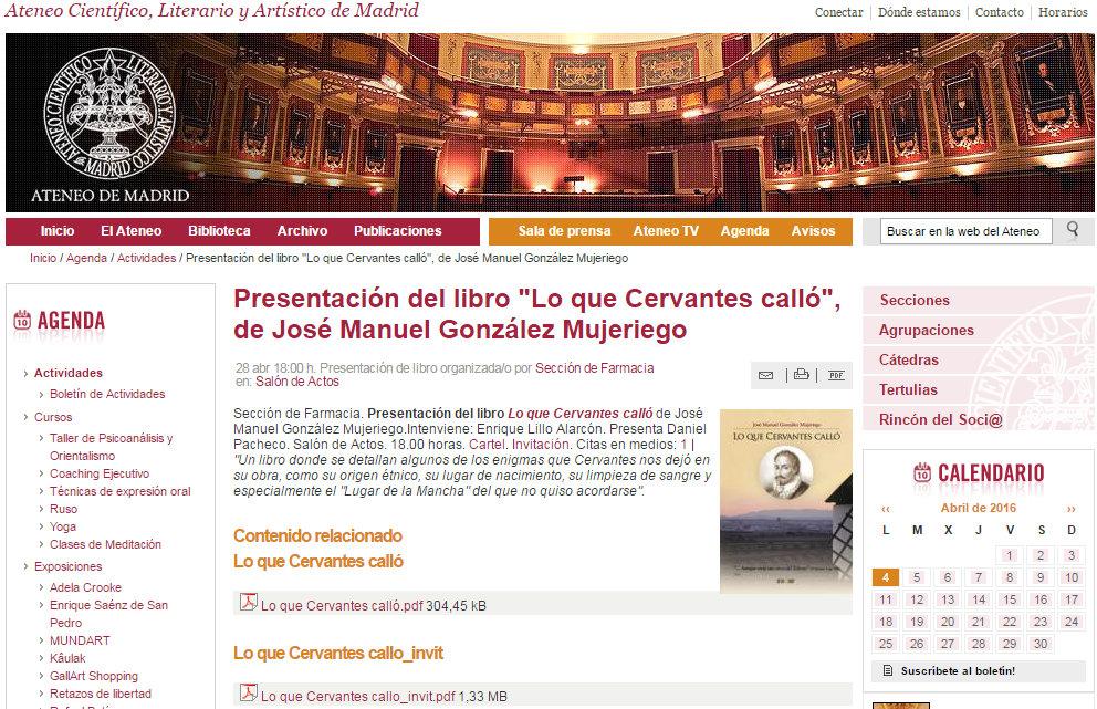 Dossier de Prensa ATENEO DE MADRID