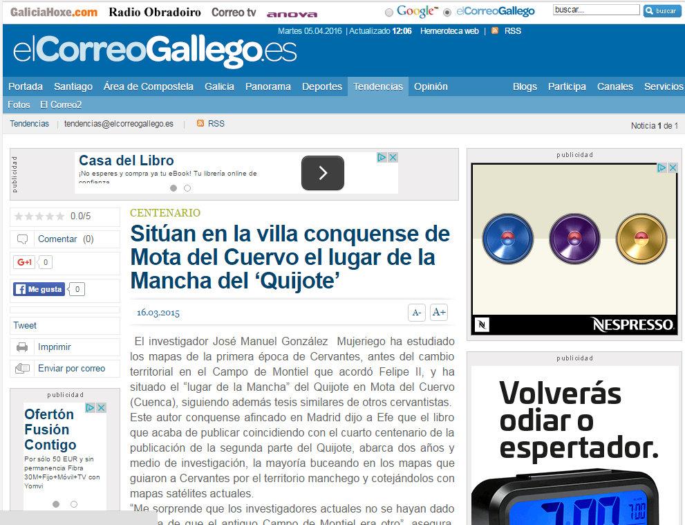 Dossier de Prensa CORREO GALLEGO