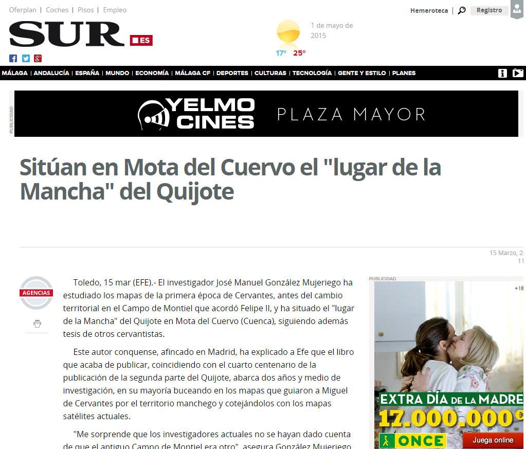 Dossier de prensa Diario SUR de Málaga