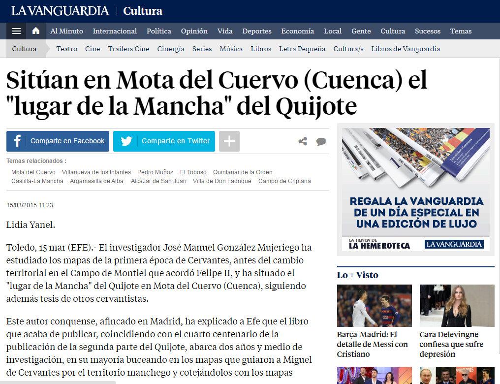 Dossier de Prensa LA VANGUARDIA