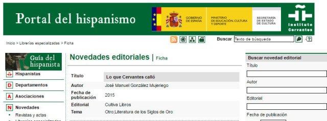 Dossier de Prensa Portal Hispanismo Inst. Cervantes