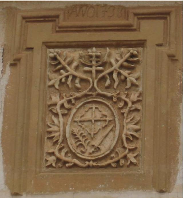 Escudo de la Inquisición en Mota del Cuervo