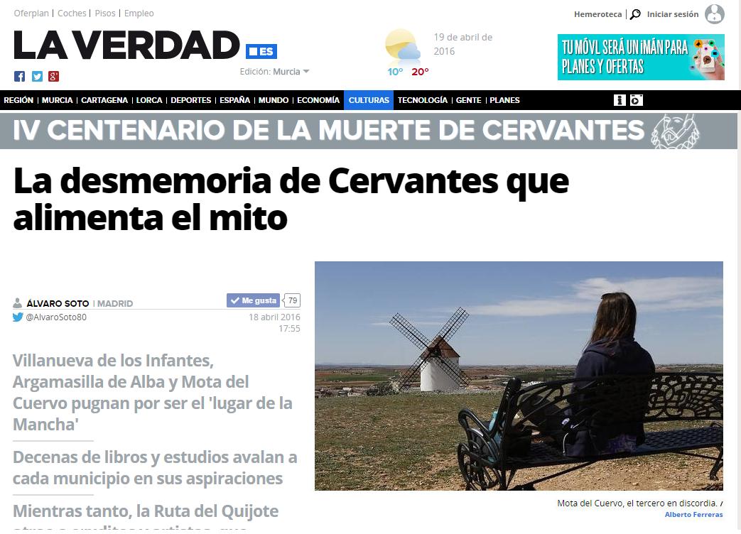 La Verdad- La desmemoria de Cervantes que alimenta el mito -mota-del-cuervo--575x323