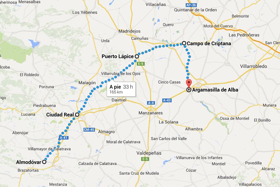 Mapa Argamasilla Almodóvar