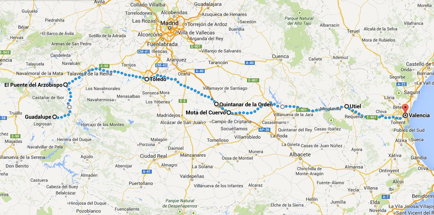 Mapa Guadalupe Quintanar Valencia