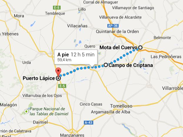 Mapa Mota Criptana Puerto Lápice2