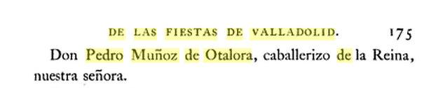 Pedro Muñoz de Otálora en las fiestas de Valladolid
