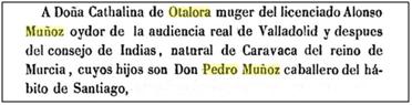 Pedro Muñoz hijo de Alonso Muñoz