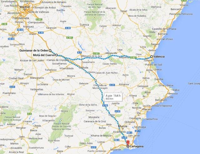 Quintanar-Mota-Valencia y Cartagena
