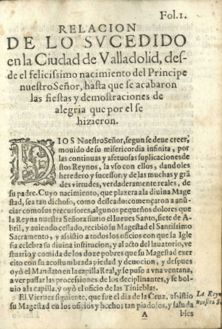 Relación de lo sucedido en Valladolid
