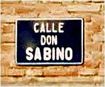 Rótulo de la Calle de Don Sabino