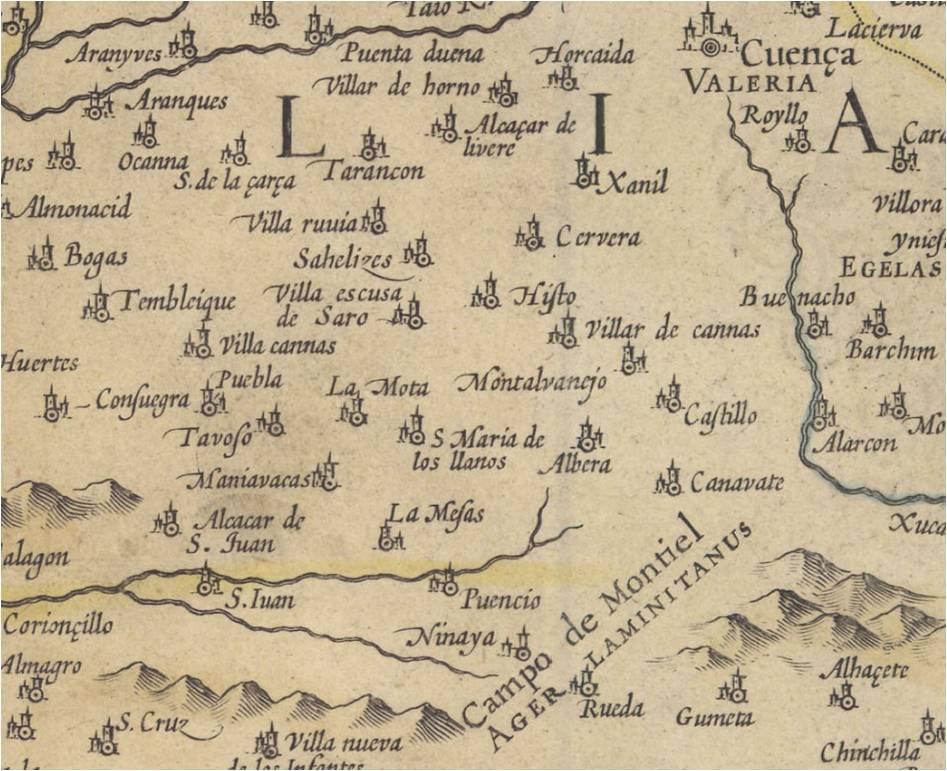 mapa de las dos Castillas en 1606