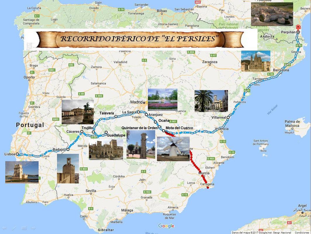 recorrido europeo del Persiles 1